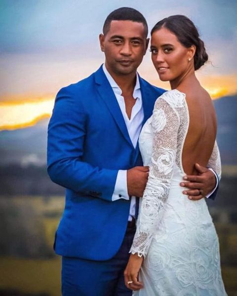 Beulah Koale and his partner
