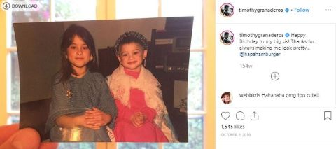 Timothy Granaderos share the picture of his family in his social media account