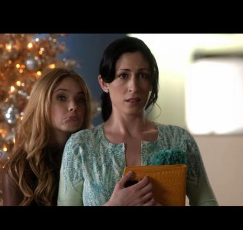 Cara Mantella caught on action, with a shocked face with her co-actor.