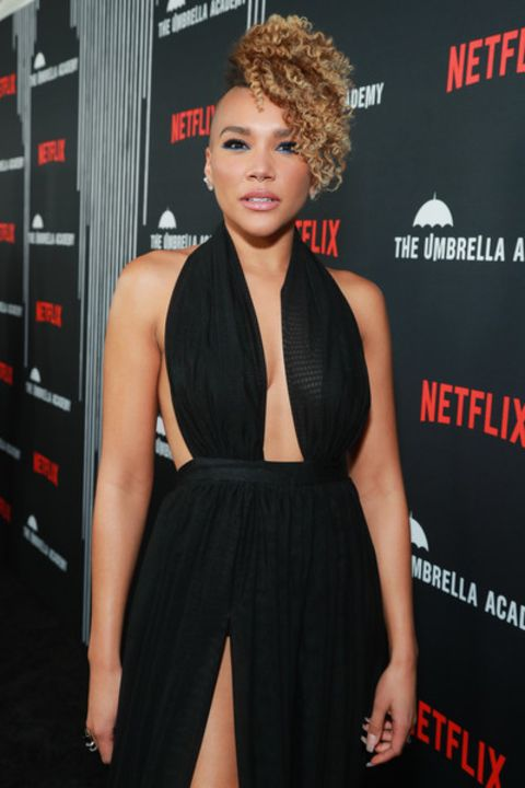 Emmy Raver-Lampman clicked at the premiere of the series, The Umbrella Academy.