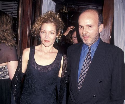 Amy Irving clicked alongwith her former husband, Bruno Barreto.