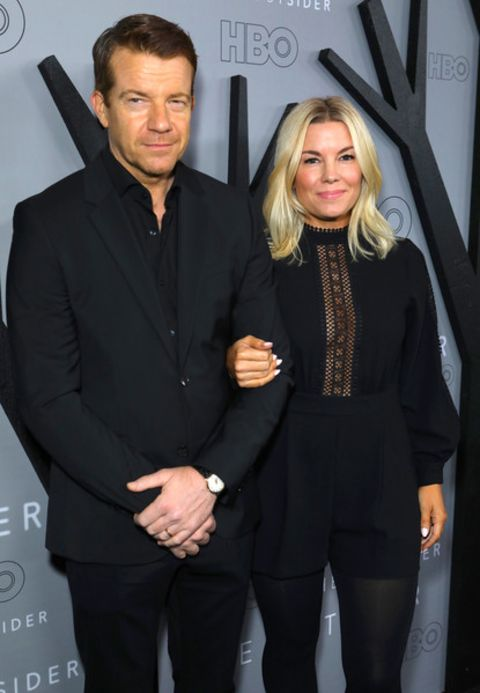 Max and Jennifer Beesley shared the camera in red carpet 2020