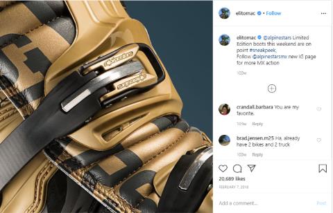 Eli Tomac makes money from instagram.