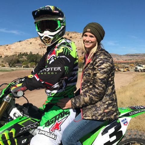 Eli Tomac and Jessica Steiner are the lovely couple.