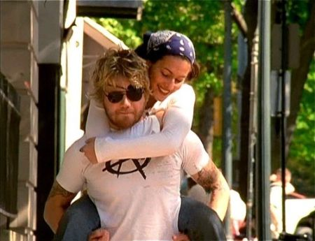 Angie Cuturic and Ryan Dunn together.