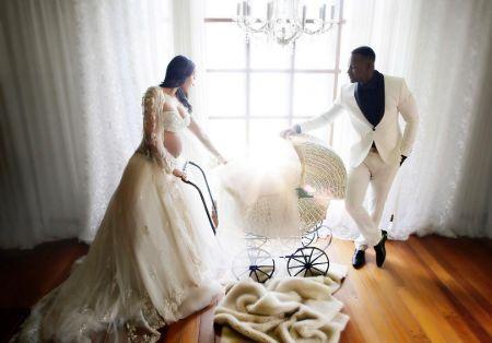 Azja Pryor on her wedding.