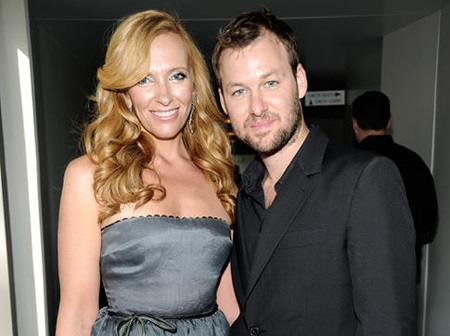 Toni Collette with her husband, Dave Galafassi