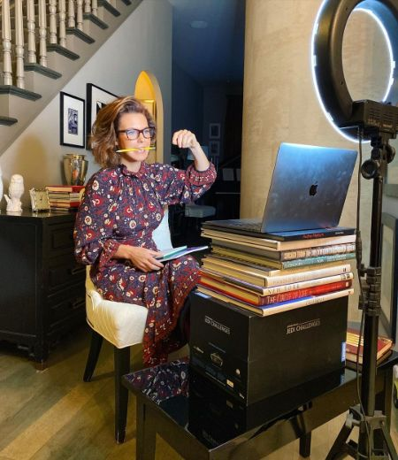 Stephanie Ruhle working from home