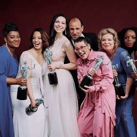 Nick with OITNB cast members
