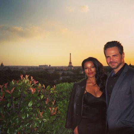 Bradford Sharp with his wife, Keesha