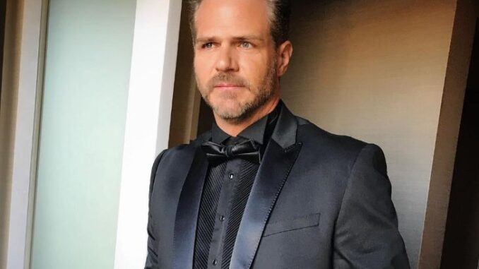 Bradford Sharp wearing a black suit