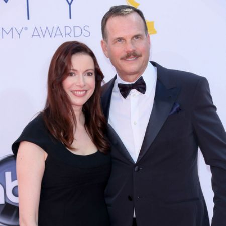 Louise Newbury with her late husband, Bill Paxton at the 64th Annual Primetime Emmy Awards.