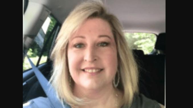 Kathy Gerrity in her car