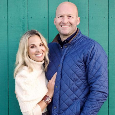 Elisabeth Hasselbeck, along with her husband, Tim Hasselbeck.